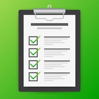 Portapapeles con el icono de lista de verificación. icono de lista de verificación para web.