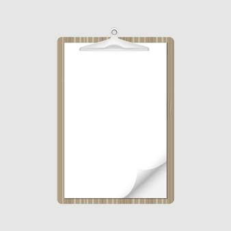 Portapapeles nota de papel para el informe de documentos