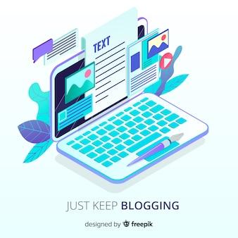 Portátil para bloguear
