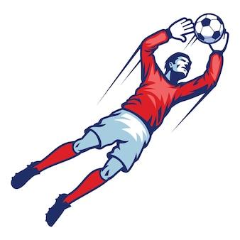 Portero captura pelota