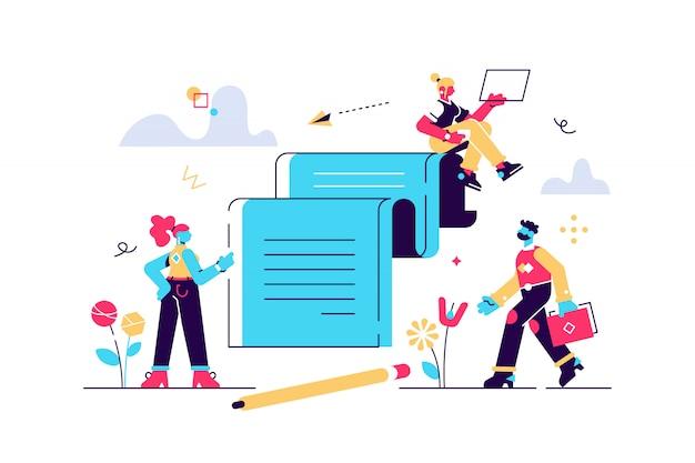 Porteros de negocios: un equipo exitoso. pago ordinario o proceso de desarrollo