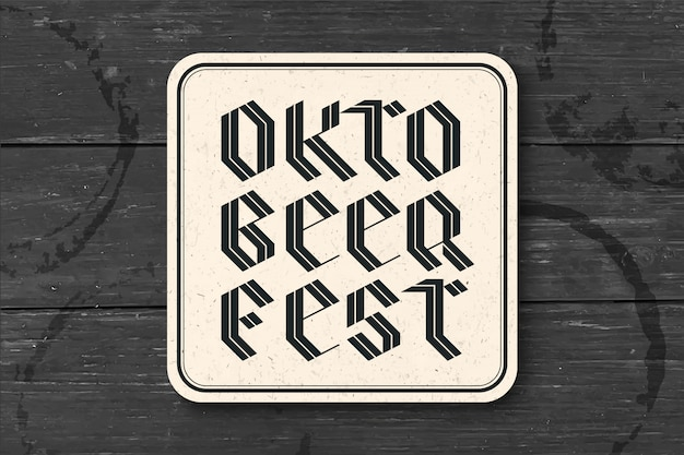 Posavasos con letras para oktoberfest beer festival