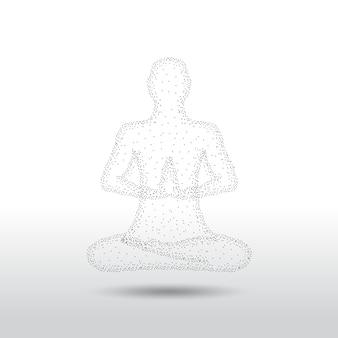 Pose de meditación de yoga