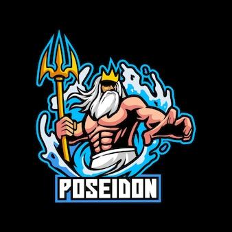 Poseidón mitología agua océano zeus romano barba