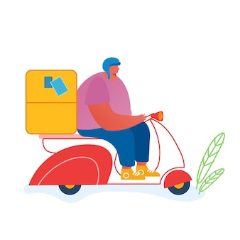 Post concepto de servicio de entrega urgente.