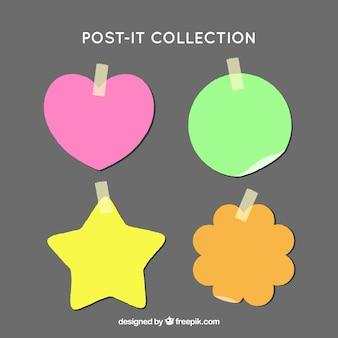 Post-it coloridos con diferentes diseños