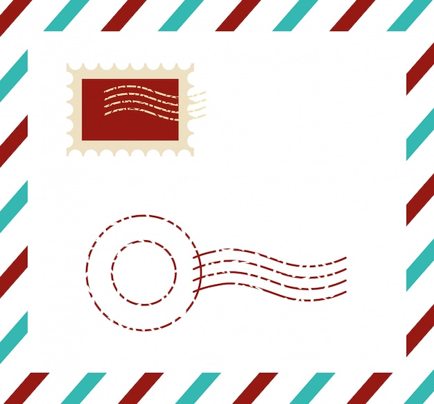 Postal de calidad premium con sello
