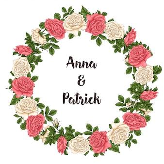 Postal coral rosas