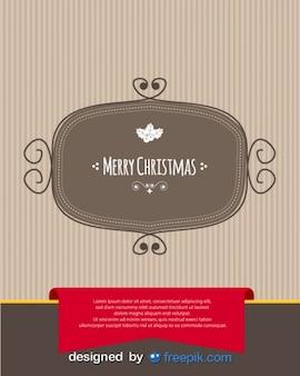 Postal de feliz navidad con una bandeja de aluminio