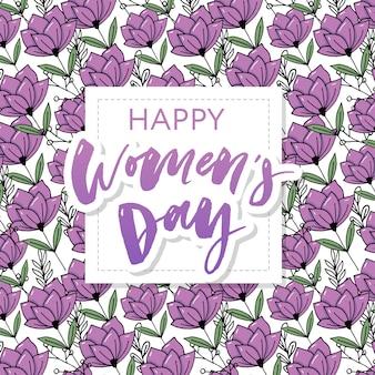 Postal del día de la mujer feliz