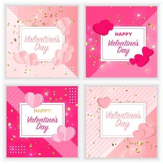 Postal para el día de san valentín banner postales carteles imprimir
