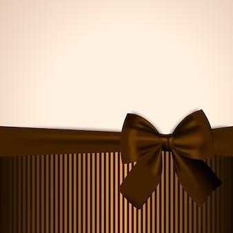 Postal marrón y dorada