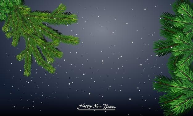 Postal navideña. banner de regalo de año nuevo. feliz año nuevo.