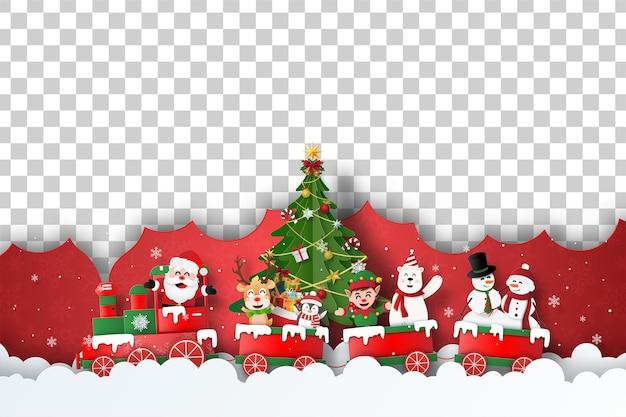 Postal navideña de espacio en blanco para su texto o foto