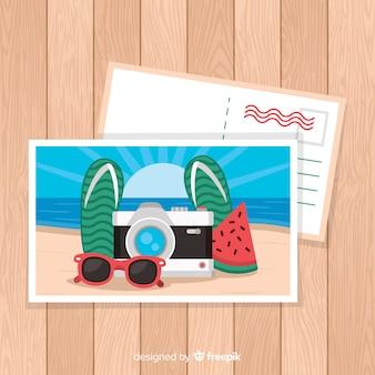 Postal de vacaciones de verano