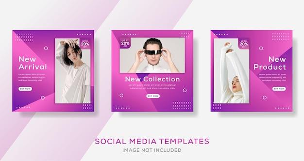 Poste de banner de moda moderna con color degradado.
