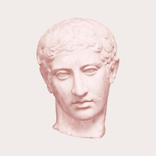 Poste estético de la estatua del dios griego