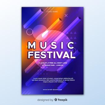 Poster abstracto de festival de música