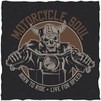 Póster alma de motocicleta