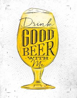 Póster buena cerveza