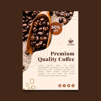 Póster de café de calidad premium
