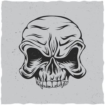 Póster cráneo enojado