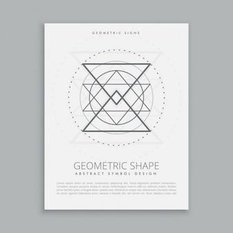 Póster de signo geométrico sagrada