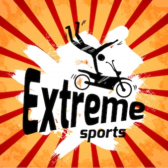 Póster de deportes extremos.