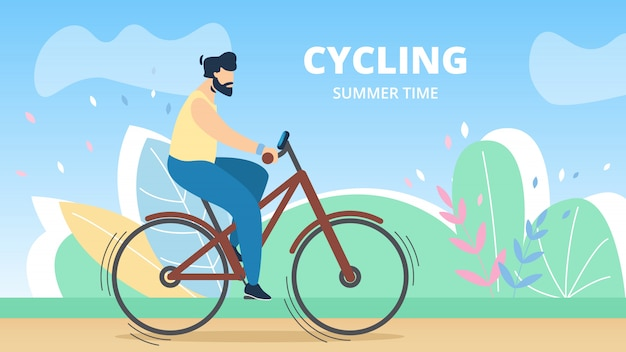 Póster deportivo ciclismo de verano, letras