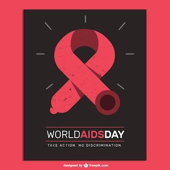 Póster del día internacional contra el sida