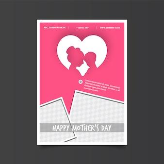 Póster de día de la madre con corazón