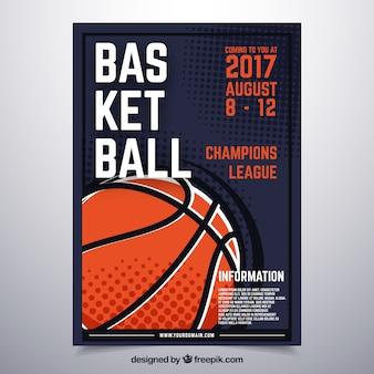 Póster con diseño de baloncesto