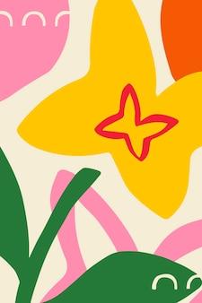Póster estampado de flores brillantes y coloridas