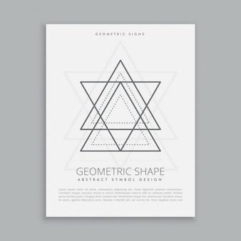 Póster de estrella y triángulos sagrados
