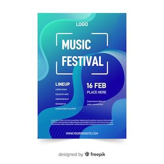 Póster festival música abstracto