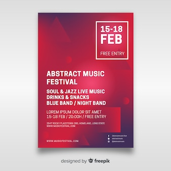 Poster de festival de música abstracto