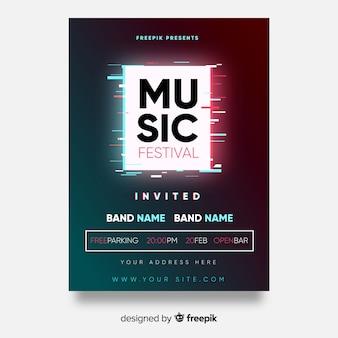 Póster festival música cuadrado