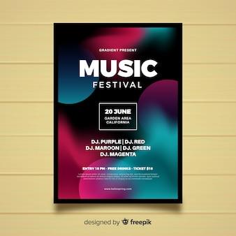 Póster festival música degradado