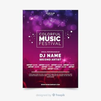 Poster de festival de música con fotografía