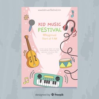 Póster festival música niños