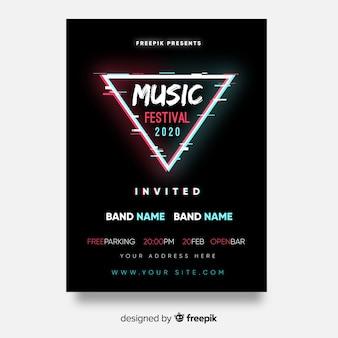 Póster festival música triángulo