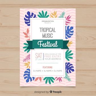 Póster festival música tropical