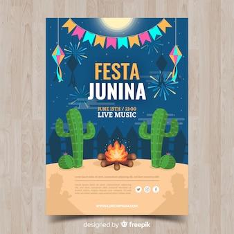 Poster de fiesta junina