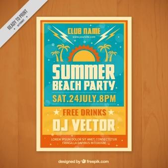 Poster de fiesta de verano