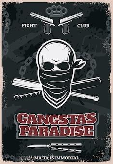 Póster gangstas paradise
