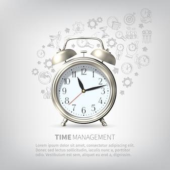 Póster de gestión del tiempo