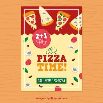 Póster de hora de la pizza