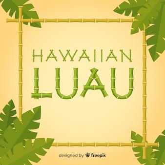 Poster de luau hawaiano con bambú
