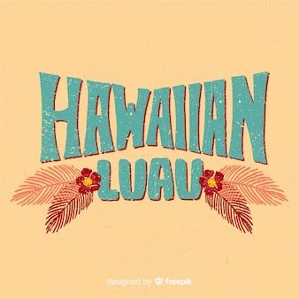 Poster de luau hawaiano vintage