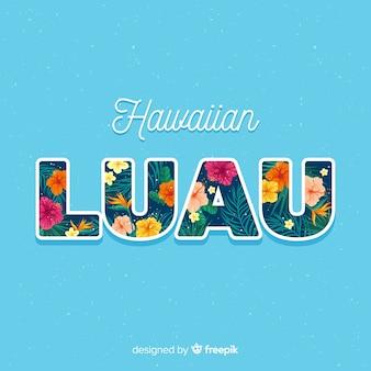 Poster de luau hawaiano